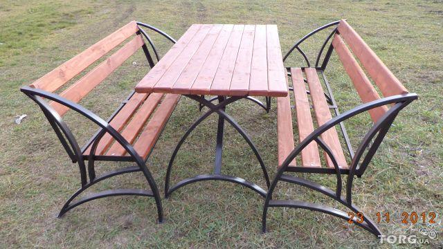 Садовые столы своими руками из металла